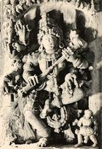 Saraswati playing Ektantri Veena Somanthpur Keshava Temple (1268 AD)